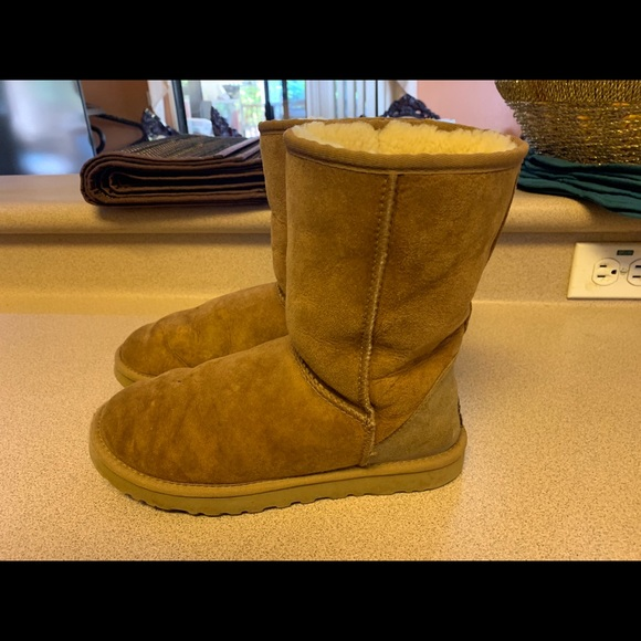 7cf4d4116e0 UGG Boots Classic Chestnut Tan Suede Unisex Mens 7